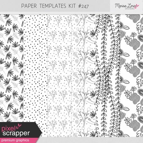 Paper Templates Kit #247