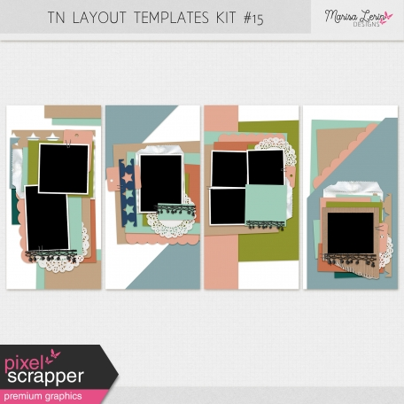 Travelers Notebook Layout Templates Kit #15