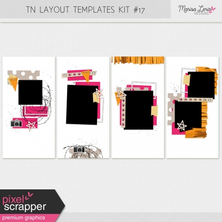 Travelers Notebook Layout Templates Kit #17