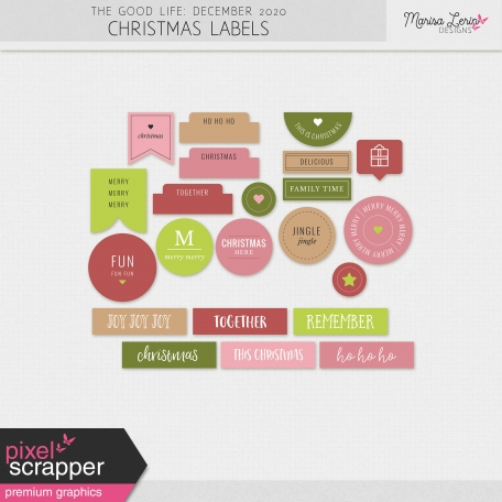 The Good Life: December 2020 Christmas Labels Kit