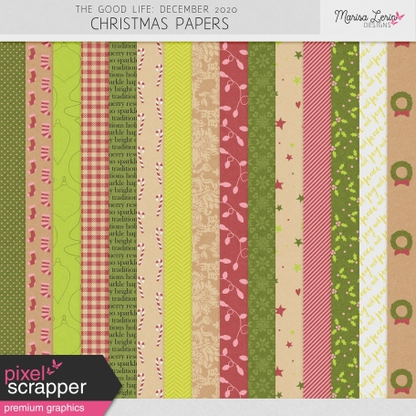 The Good Life: December 2020 Christmas Papers Kit