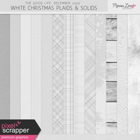 The Good Life: December 2020 White Christmas Solids & Plaids Kit