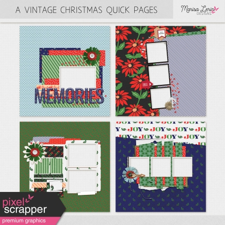 christmas digital scrapbooking quick pages kit
