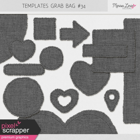 Templates Grab Bag Kit #34 - Burlap