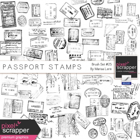 Brush Kit #25 - Passport Stamps