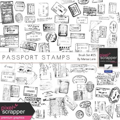 Brush Kit #25 - Passport Stamps