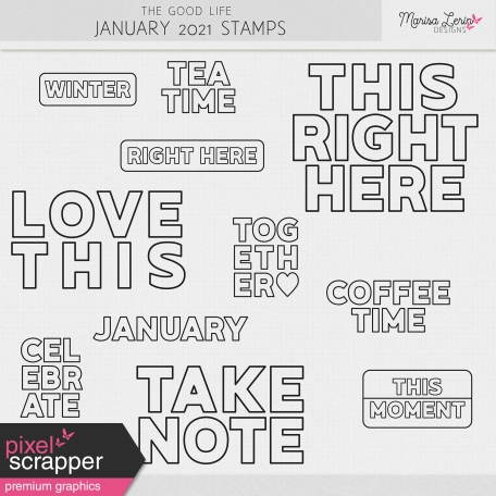 The Good Life: January 2021 Stamps Kit