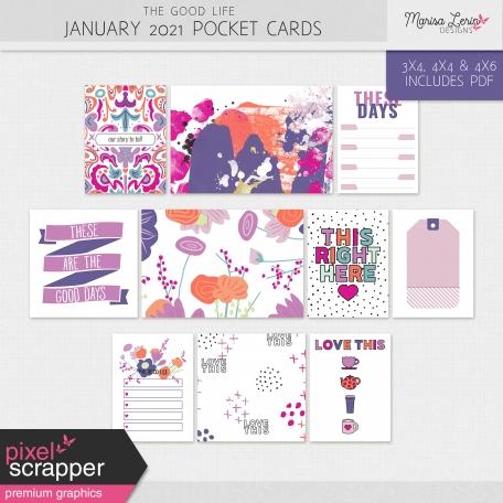 The Good Life: January 2021 Pocket Cards Kit