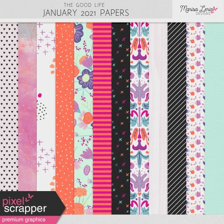 The Good Life: January 2021 Papers Kit