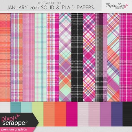 The Good Life: January 2021 Solids & Plaids Kit