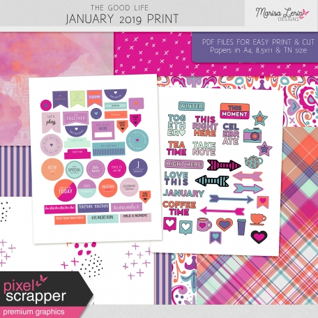 The Good Life: January 2021 Print Kit