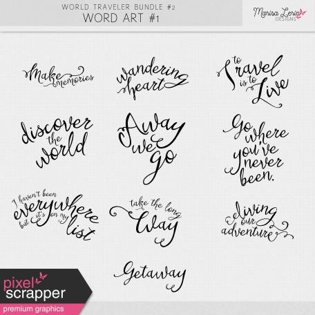 World Traveler #2 Word Art Kit #1