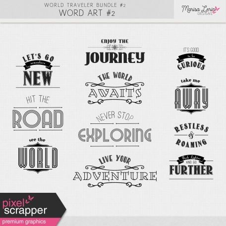 World Traveler #2 Word Art Kit #2