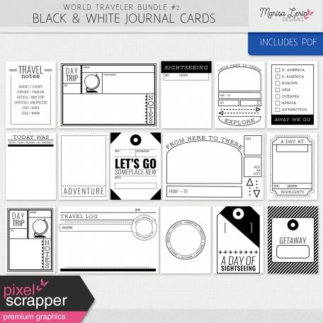 World Traveler #2 Black & White Pocket Cards Kit