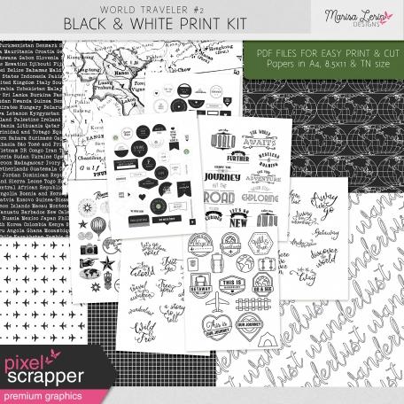 World Traveler #2 Black & White Print Kit