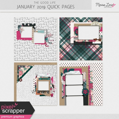The Good Life: January 2019 Quick Pages Kit