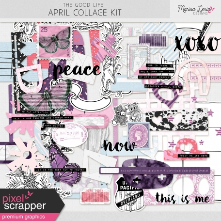 The Good Life: April Collage Kit