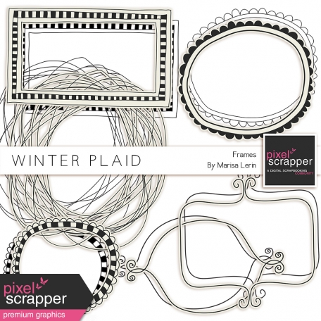 Winter Plaid Frames Kit