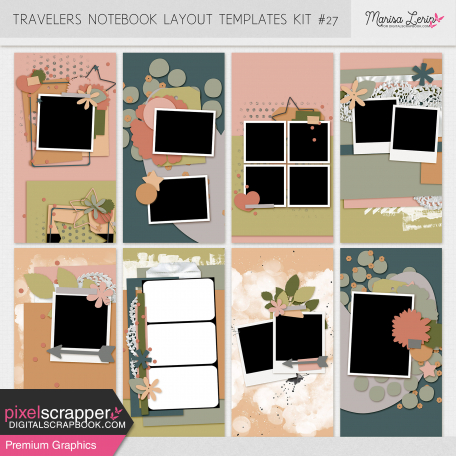 Travelers Notebook Layout Templates Kit #27