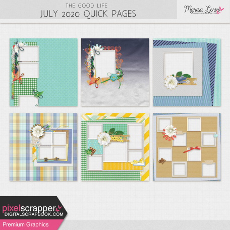 The Good Life: July 2020 Quick Pages Kit