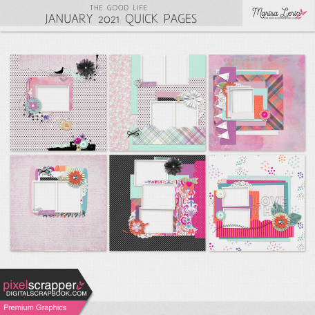 The Good Life: January 2021 Quick Pages Kit