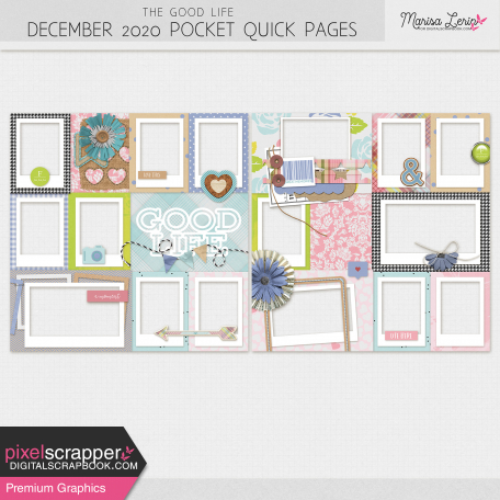 The Good Life: December 2020 Pocket Quick Pages Kit