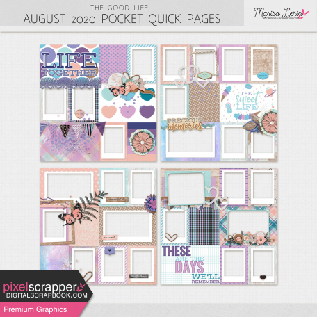 The Good Life: August 2020 Pocket Quick Pages Kit