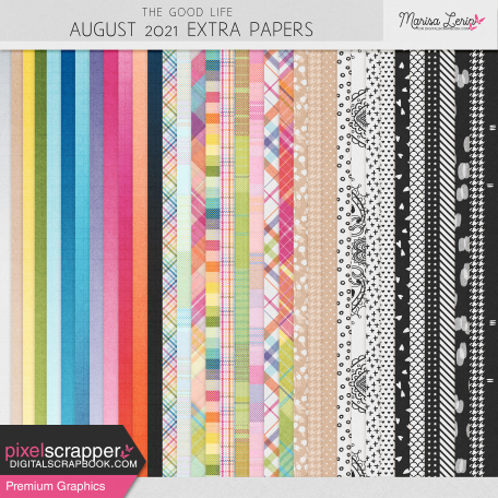 The Good Life: August 2021 Extra Papers Kit
