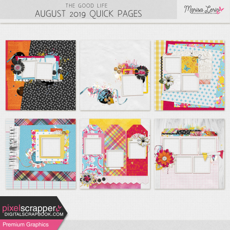The Good Life: August 2019 Quick Pages Kit