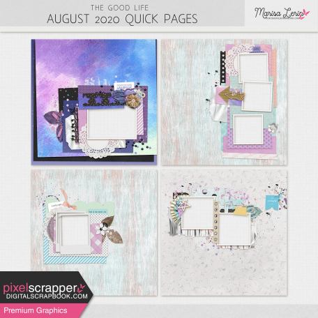 The Good Life: August 2020 Quick Pages Kit