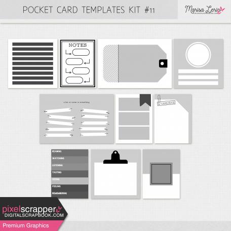 Pocket Cards Templates Kit #11