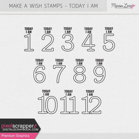 Make A Wish Stamps - Today I Am Kit