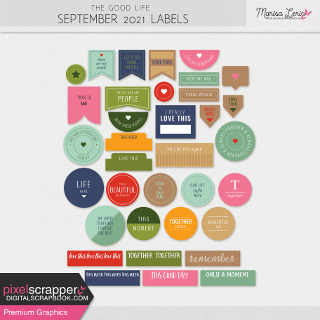 The Good Life: September 2021 Labels Kit