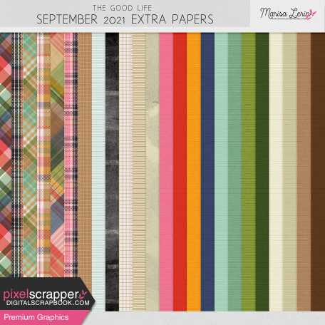 The Good Life: September 2021 Extra Papers Kit