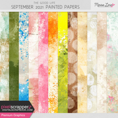 The Good Life: September 2021 Painted Papers Kit