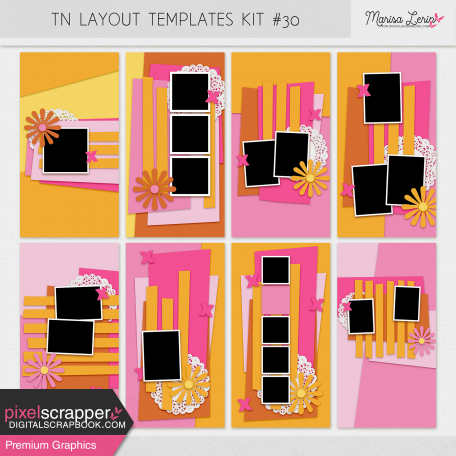 Travelers Notebook Layout Templates Kit #30