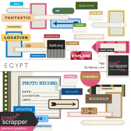 Egypt Tags Kit