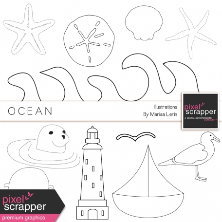 Ocean Illustrations Kit