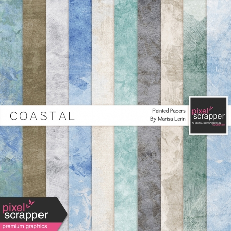 Coastal Painted Papers
