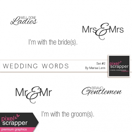 Wedding Words Kit #2