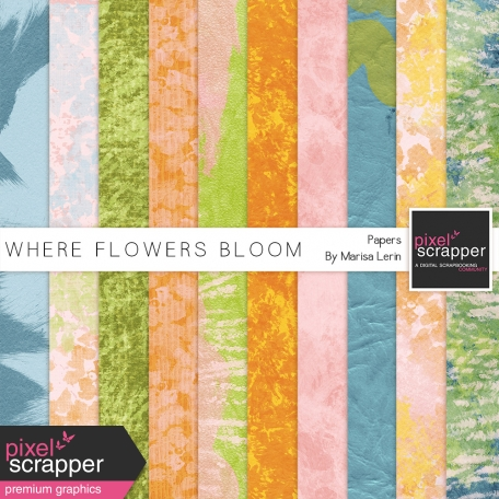 Where Flowers Bloom Painted Papers Kit