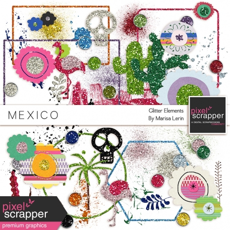 Mexico Glitter Elements Kit
