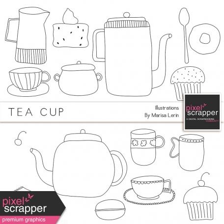 Tea Cup Illustrations Kit