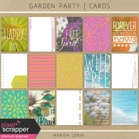 Garden Party Journal Cards