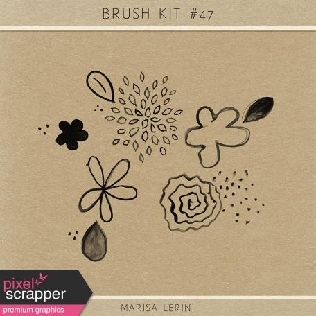Brush Kit #47 - Flower Watercolors