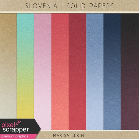 Slovenia Solid Papers Kit