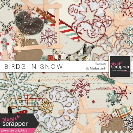 Birds in Snow Elements Kit