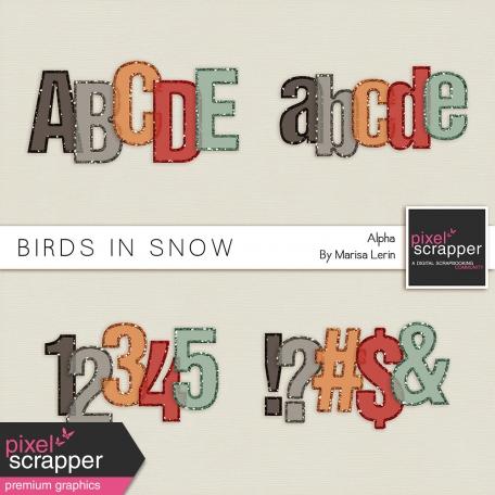 Birds in Snow Alphas Kit