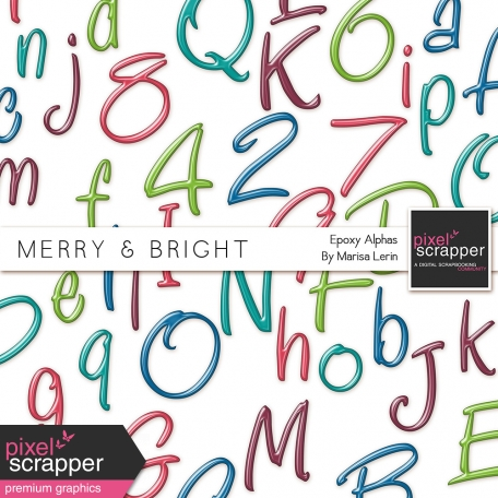 Merry & Bright Plastic Alpha Kit