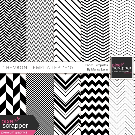 Chevron Paper Templates 1-10 Kit